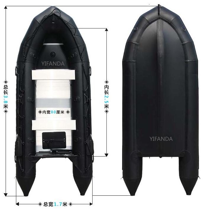 黑金刚冲锋舟,防汛橡皮艇,抗洪充气船皮划艇